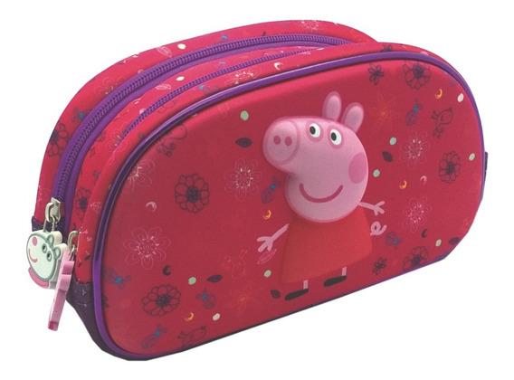 Cartuchera 2 Cierres 3d Peppa Pig Original Mundo Manias