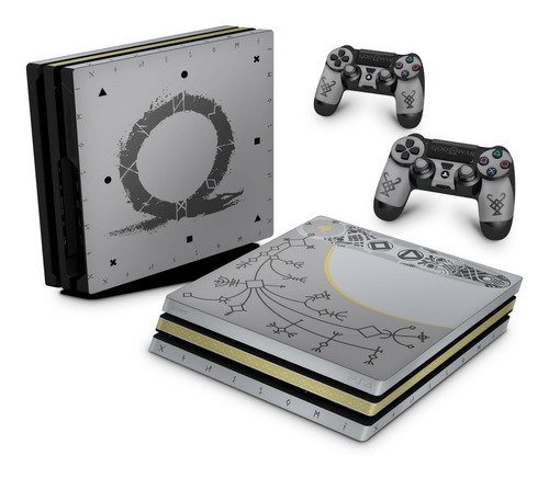 Imagem 1 de 3 de Skin Ps4 Pro Playstation God Of War Ps4 Bundle Edição Limita