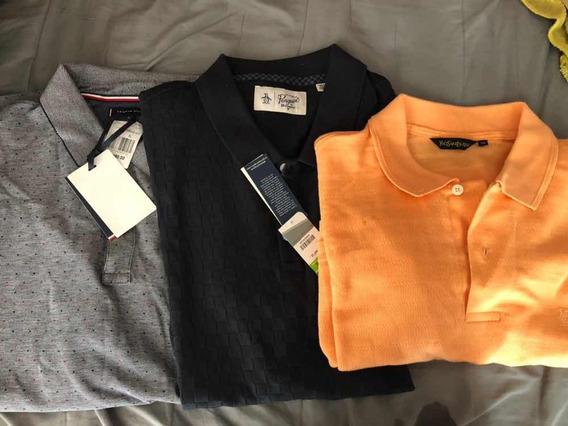 3 Camisas Tipo Polo Penguin Tommy Hilfinger Yvesaintlaurent