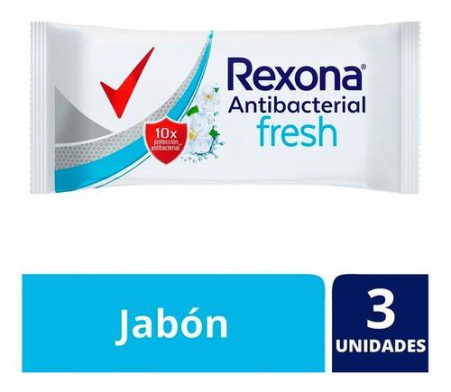 Rexona Jabon En Barra Antibacterial Fresh 3 Un X 90 Gr C/u