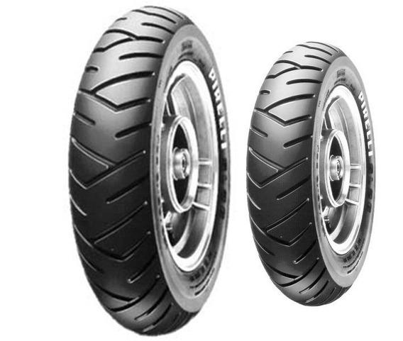 Par De Pneu Honda Lead Pirelli Sl26 90/90-12 + 100/90-10