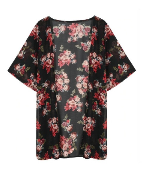 Kimono Cargidan Camisa Larga Ropa Diseño Floral Envio Gratis