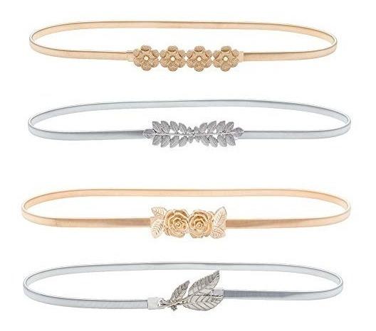Cinturones De Oro Marca Haopidai Para Las Mujeres Vestido De