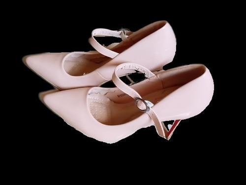 Zapatos De Tacon Color Nude Talla 38