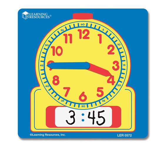 Learning Resources Write-on/wipe-off Relojes 10/pk, Multi