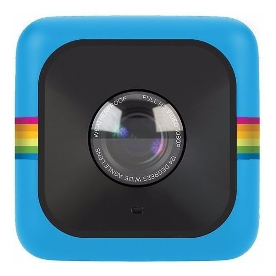 Câmera De Ação Polaroid Cube Full Hd Azul + Soporte C/ Cinta