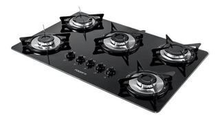 Fogão cooktop a gás Fogatti V500X preto 110V/220V