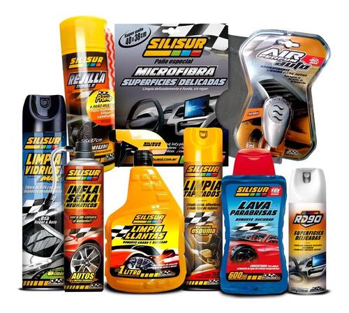 Imagen 1 de 2 de Kit Todo En Uno Limpieza Auto 9 Productos