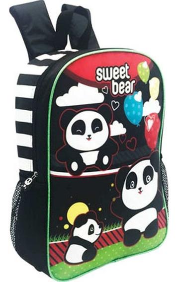 Mochila Infantil Sweet Bear Urso Gliter Personalizada Kit