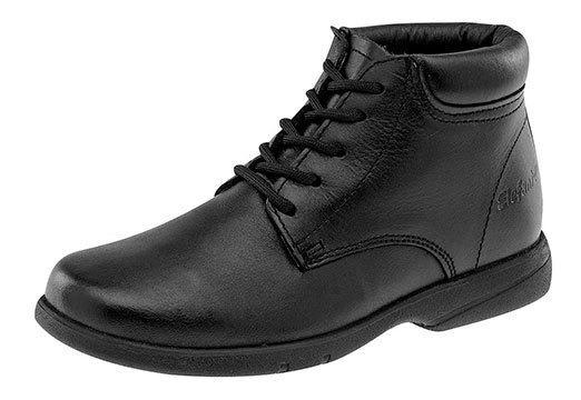 Sneaker Escolar Elefante Negro Piel Niño J64816 Udt