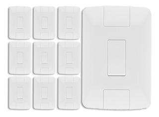 Conjunto Tramontina Aria 4x2 1 Interruptor Simples 6a 10un