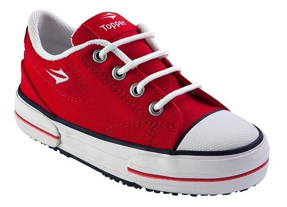 Zapatilla Urbana Topper Nova Low Rojo Kids Nene 25 Al 34