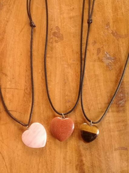 Colar Pedras Energia Coração