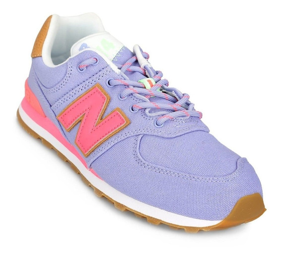 Zapatilla New Balance Gc574t4 Lila Niñas Moda Urbano