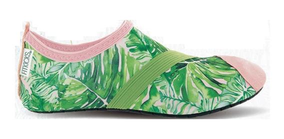 Zapatos Deportivos Acuaticos. Dama. Verde Palmera. Talla Med