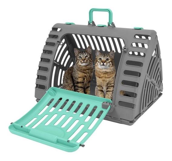 Transportador Cama Plegable Jaula De Plástico Grande, Gatos