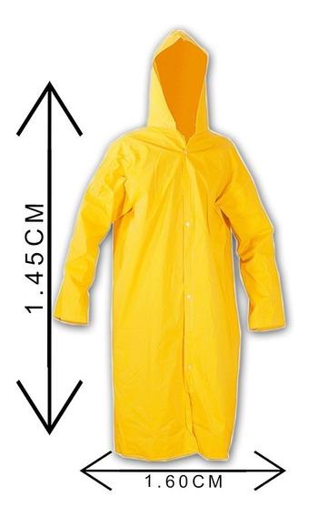 Capa De Chuva Com Capuz Pvc Resistente