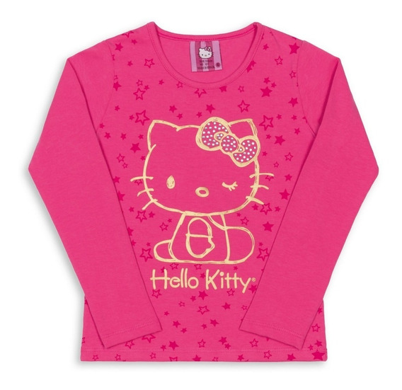 Blusa Infantil Estampada Hello Kitty