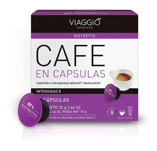 Pack 30 Cápsulas Café Viaggio Ristretto Para Dolce Gusto®