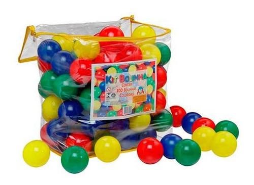 Kit Com 100 Bolinhas 7 Cm Coloridas Braskit