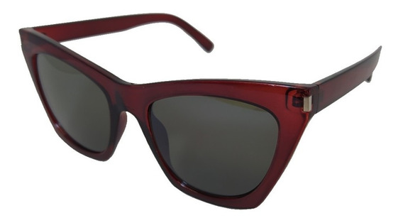 Óculos De Sol Retrô Barato Retângulo Vermelho
