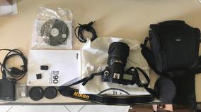 Maquina Fotográfica Nikon D90 + Acessórios Muito Nova