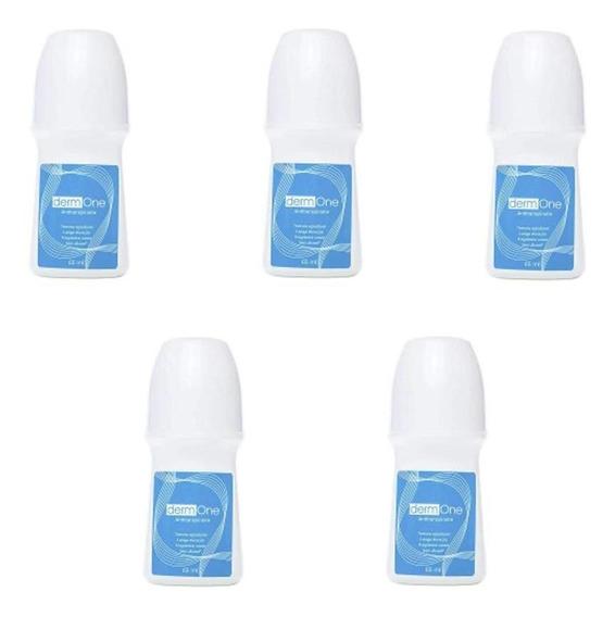 Kit Com 5 Desodorante Antitranspirante Roll-on Derm One