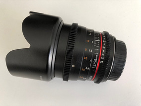 Rokinon 50mm T1.5 As Umc Cine Ds Lens For Canon Ef Mount