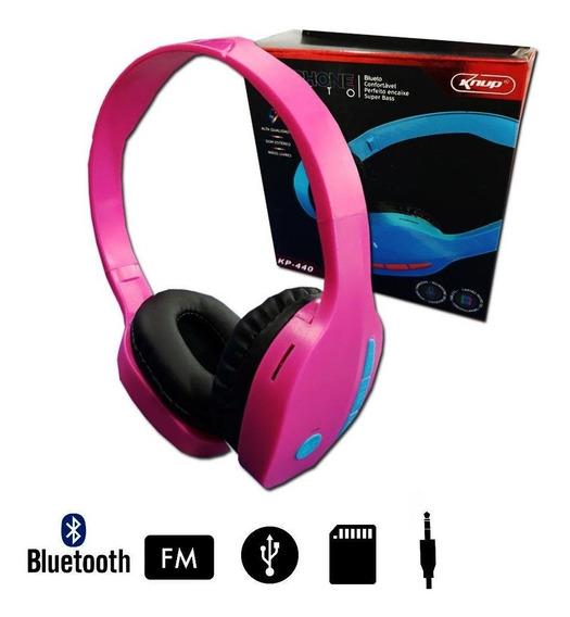 Headphone Kp-440 Rosa