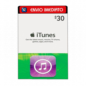 Itunes Gift Card $30 Dólares Usa - iPod/iPhone/iPad/iMac
