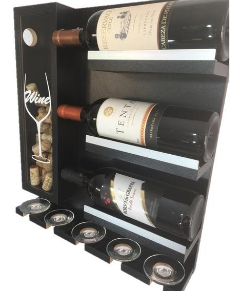 Mini Adega Parede Vinho Decoração, Sala Churrasqueira