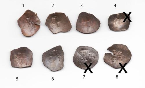 Imagen 1 de 3 de 1 Moneda Bizantina Alexius Iii Copa Bronce 1195-1203, L123