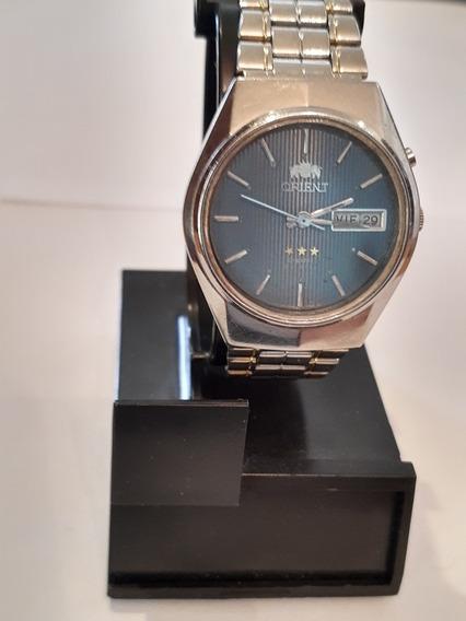 Reloj Orient Vintage Para Caballero Cristal 3 Estrellas Auto