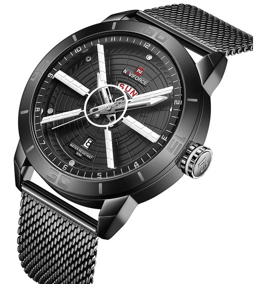 Relógio Masculino Naviforce Esportivo Luxo Lançamento 9155