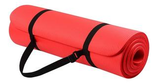 Yoga Durable Mat De 10mm Premiun Grueso A1 + Porta Sujetador