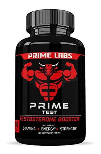 Prime Labs, Potenciador De Testosterona Para Hombre (60 Cáps