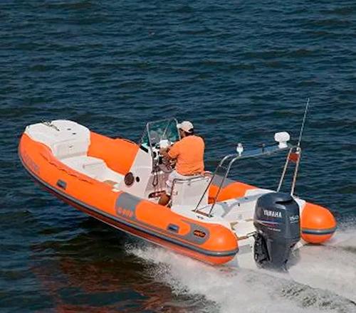 Imagem 1 de 6 de Bote Infavel Zefir G600 G2 + Motor Yamaha 150 Hp 4 T Okm 20