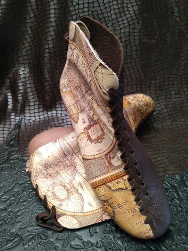 Imagen 1 de 3 de Zapatos/botines Artesanales Dama Hecho A Mano En Colombia