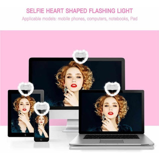 Aro Luz Led Selfies Celular Tablet Anillo Recargable Corazon