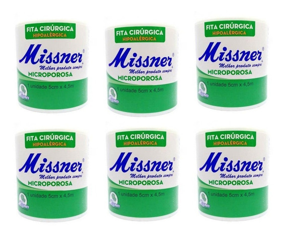 Kit C/ 6 Fita Cirurgica Micropore 5 X 10 Metros Missner