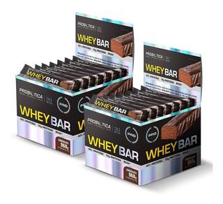 2 Caixas Whey Bar Caixa C/ 24 Barras Cada - Probiótica