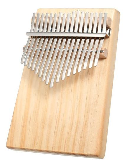 17 Chaves Mbira Bolso Instrumento Musical Dedo Piano Kalimba