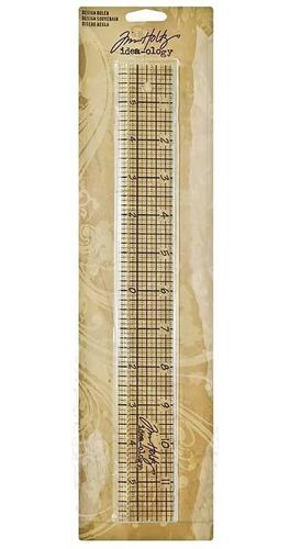 Régua Acrílica Projetos- Design Ruler - Tim Holtz 30 X 4 Cm