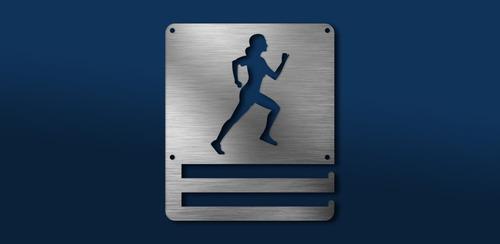 Imagen 1 de 6 de Medallero Running Woman Porta Medallas Personalizado Gratis