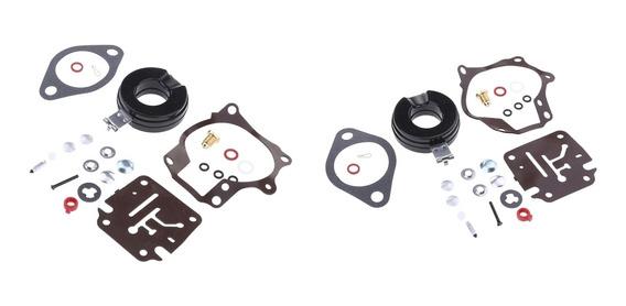 2x Boat Motor Carburador Repair Kit Para Johnson Evinrude 20