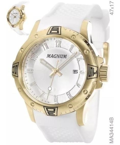 Relógio Magnum Masculino Dourado - Ma34414b