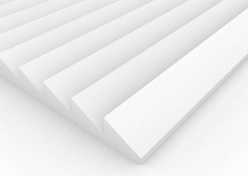 Imagen 1 de 4 de Panel Acústico Premium Blanco Ignifugo - Saw 30mm