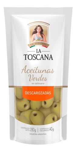 Aceitunas Verdes Descarozadas La Toscana 280 Grs