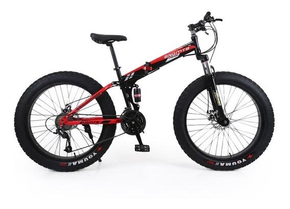 Bicicleta Plegable 26´ Fat Tire Doble Suspension Shimano