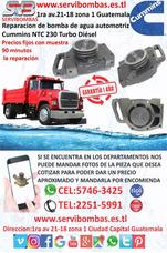 Reparación De Bomba De Agua Cummins Ntc 230 Guatemala